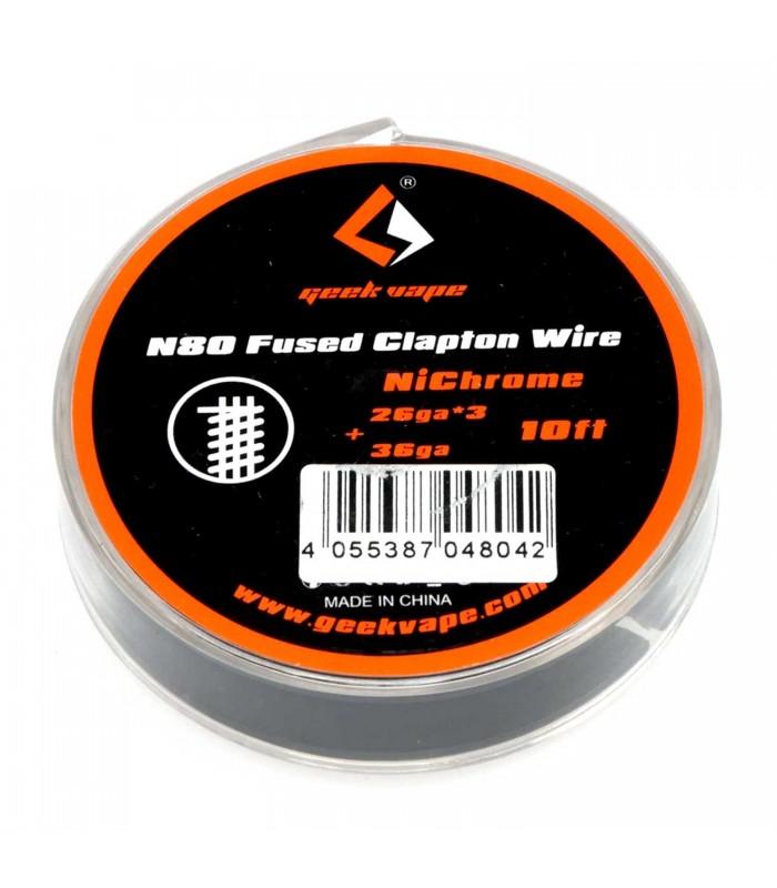 N80 Fused Clapton Wire 3m Geekvape